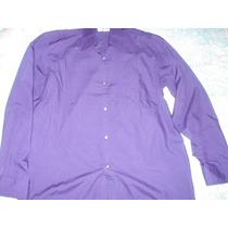 Camisa Hombre Manga Larga Violeta Oscuro