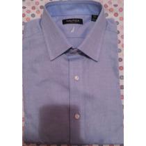 Camisa Hombre Vestir Marca Nautica Cuello 42. Importada