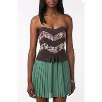 Corset Crop Top Civil Volados Fiesta Urban Outfitters