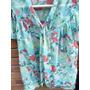 Camisa De Mujer Estampado Floral,manga Mariposa, Import