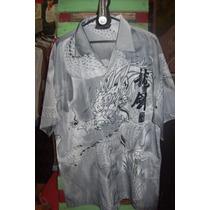 Camisa Hawaiana Oriental Tigre Dragones Tatoo C 706