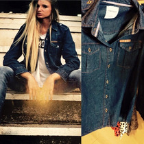 Camisa Jean Mujer Temporada Primavera/verano Talle S Al Xxl