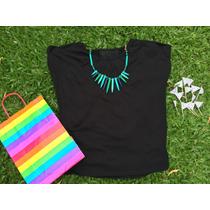 Blusa Remera Modal Negra Negro Comoda Y Amplia