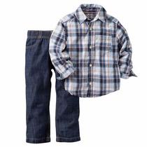 Set 2 Piezas Carters Camisa Pantalon Varios Talles Importado