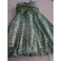 Hermoso Vestido De Fiesta Con Lentejuelas Corte Princesa