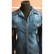 3 Camisas De Jeans Mujer Por Mayor Talles 1 Al 5 Excelentes!