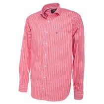 Camisa De Hombre Rayas Finas Salmón Pato Pampa