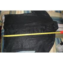 Camisa Stone Negra Satinada Manga Corta