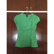 Camisa H&m. Zara. Forever. Verde. Small. Entallada