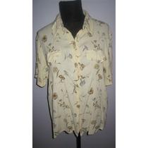 Blusa Camisa Bambula Floreada