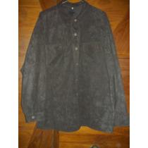 Camisaco Camisa Señora Talle Xxl Marrón Gamuzado Excelente