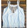Lindisima Blusa Blanca Bordada En Escote Muy De Moda