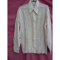 Blusa Camisa Bordada Nueva Tela Ao Po I T. L Fortu13