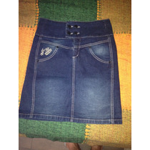 Pollera Jeans Elástizad Nueva Tabatha Con Etiqueta