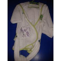 Salida De Baño Bata Para Bebe Niña 6 A 18 Meses Buhos Y Flor