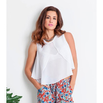 Blusa De Gasa Con Doble Volado, Activity