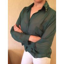 Camisa Mujer Tela De Gasa Talle L