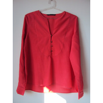 Blusa Camisola De Mujer Marca Zara Talle L Color Fucsia