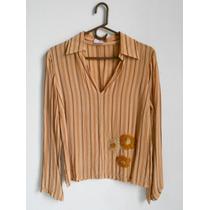 Blusa Diseño Flores Bordadas - Ushka Poliester