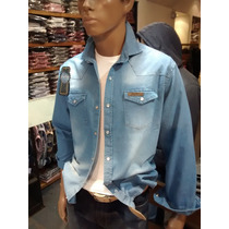 Camisa De Jeans Hombre Con Broches Be Your Self Ventas