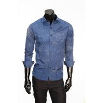 Camisa De Noche Azul Rayada Entallada Modena - Relax Multi
