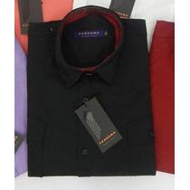 Nueva Camisa Entallada Negra Perdomo Primera Seleccion Off!