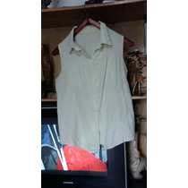 Camisa De Bambula Color Verde Agua Talle 40