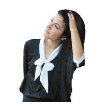 Blusa Mujer Con Moño, Dark Series, Diseño Exclusivo Villalba