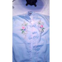 Camisa Vintage Oriental Cuello Mao - Original