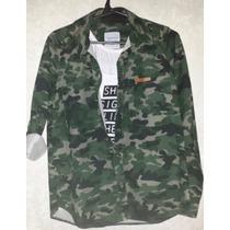 Camisa Camuflada Militar De Mujer
