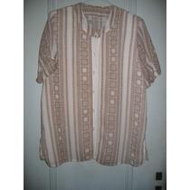 Blusa Camisa Elegante Fresca Frente Doble Xl Mangas Cortas