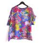 Camisa Blusa Tipo Crepe Finito Talle L/xl Con Transparencia