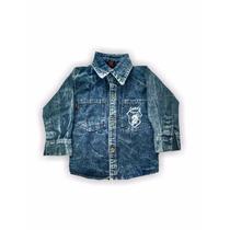 Camisa Manga Larga Jean.ropa De Bebe.ventas X Mayor Y Menor