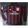 Camiseta Titular Milan Manga Larga 2015 2016 Bacca Calcio