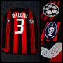 Camiseta Titular Milan - 3 Maldini - Doble Tela