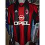 Camiseta Fútbol Milan Italia Adidas 1998 1999 Bierhoff #20 L