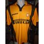 Camiseta Fútbol Inter Italia Umbro 1996 1997 Zanetti #4 T. L