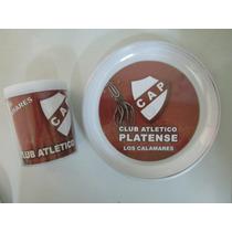 Platense - Taza + Plato Plastico Doble Pared- Caballito