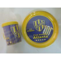 Atlanta - Taza + Plato Plastico Doble Pared- Caballito Puan