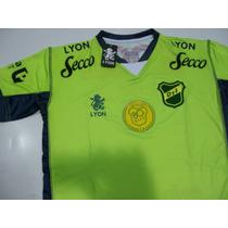 Camiseta Defensa Y Justicia Lyon 2015 80 Años Verde Original