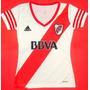Camiseta River Plate Para Dama Escudo Bordado