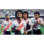Camiseta Retro River Plate Enzo Francescoli Beto Alonso 1986