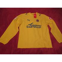 Camiseta Villareal Puma 2006 Riquelme Nueva Manga Larga