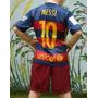 Conjunto Barca Messi Masche Suarez Neymar 2016 Kids Nenes