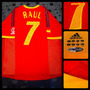 Camiseta Titular España - 7 Raul - Doble Tela