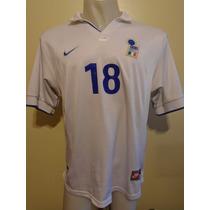 Camiseta Fútbol Italia Nike Mundial Francia 98 Baggio #18 L