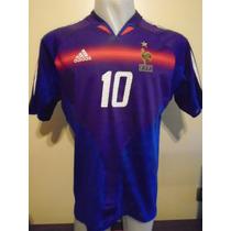 Camiseta Fútbol Selección Francia Euro 2004 Zidane #10 T. L
