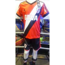 Camiseta De River Para Niño Adidas-shorts Medias De Regalo!!