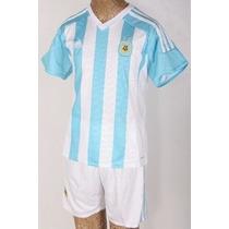 Camiseta + Short De Regalo Niños Argentina 2015 Adidas