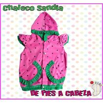 Especial Primavera Chaleco Frutillitas Para Bebes Y Nenas